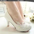 蕾絲高跟婚鞋新娘鞋伴娘鞋公主鞋宴會禮服鞋