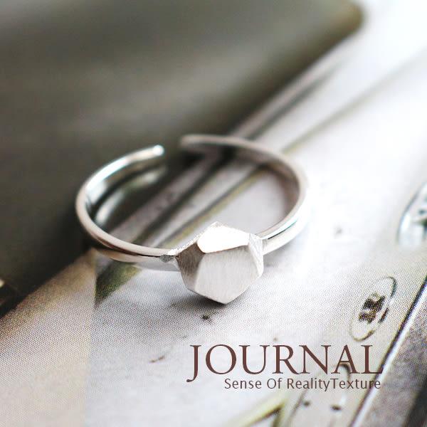 925純銀 幾何礦石造型 戒指 尾戒 關節戒_質物日誌Journal
