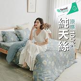 『TCL27』奧地利100%TENCEL涼感純天絲5尺標準雙人床包枕套三件組(不含被套)床單 床套 床巾