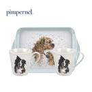 英國Pimpernel 小動物樂園設計款-兩杯一盤禮盒組(狗狗)