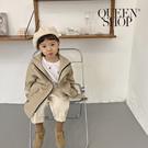 Queen Shop【02040633】童裝 休閒素色風衣外套 兩色售 S/M/L/XL*現+預*