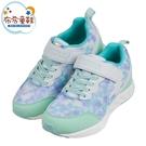 《布布童鞋》Moonstar日本綠色閃耀光彩兒童運動機能鞋(19~24公分) [ I1H188C ]