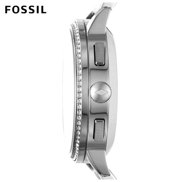 FOSSIL Q GAZER銀色不鏽鋼指針式智慧手錶 女