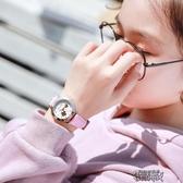 兒童手表女孩防水初中生小學生中學夜光可愛女童女生女款正正韓簡約 街頭布衣