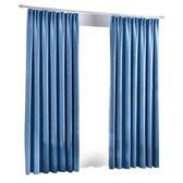 現代簡約遮光隔熱窗簾成品純色加厚客廳臥室飄窗防曬窗簾布料 雙12鉅惠