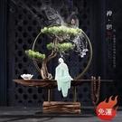 倒流香 禪意擺件中式裝飾工藝品爐陶瓷辦公...