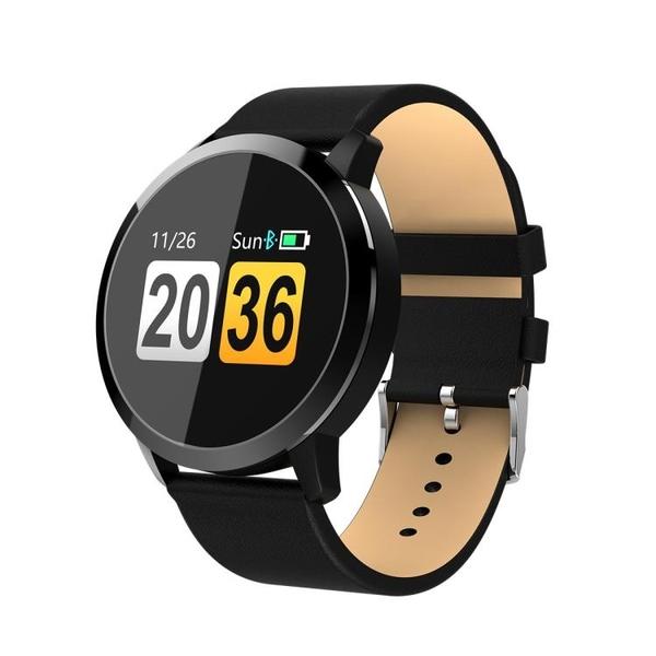 輕薄拍照手錶Q8藍芽計步運動超長續航睡眠測彩屏智慧點觸手環-享家生活館 YTL