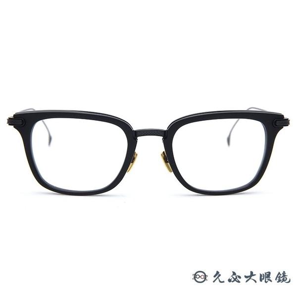 DITA 頂級眼鏡品牌 STATESIDE (霧黑) 純鈦 方框 近視眼鏡 久必大眼鏡
