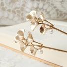 髮簪 一步一搖發簪銀杏古風古典漢服發飾簪子挽發明制珍珠簡約日常 夢藝家