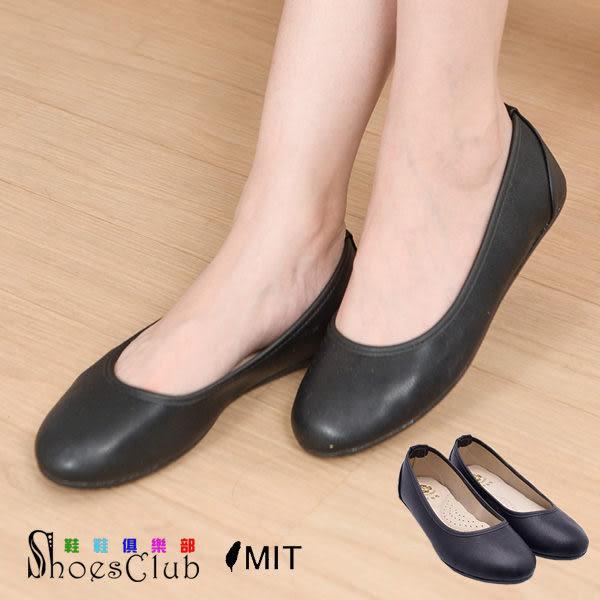 包鞋.台灣製MIT 百搭素面平底娃娃鞋.黑色【鞋鞋俱樂部】【026-379】