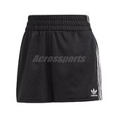 adidas 短褲 3-Stripes Shorts 黑 白 女款 運動休閒 【ACS】 FM2610