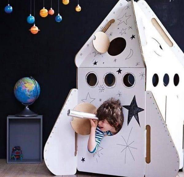 【加贈動物紙玩具x2】荷蘭 Studio Roof 火箭小屋 紙箱屋 紙屋 DIY