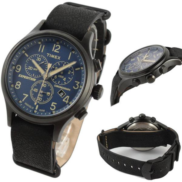 【萬年鐘錶】TIMEX INDIGLO冷光面板  三眼 日期顯示  皮帶錶 40mm TW4B04200