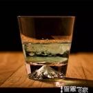 水晶杯 日式富士山玻璃杯創意雪山杯 網紅ins水晶櫻花威士忌酒杯 冰山杯 【99免運】