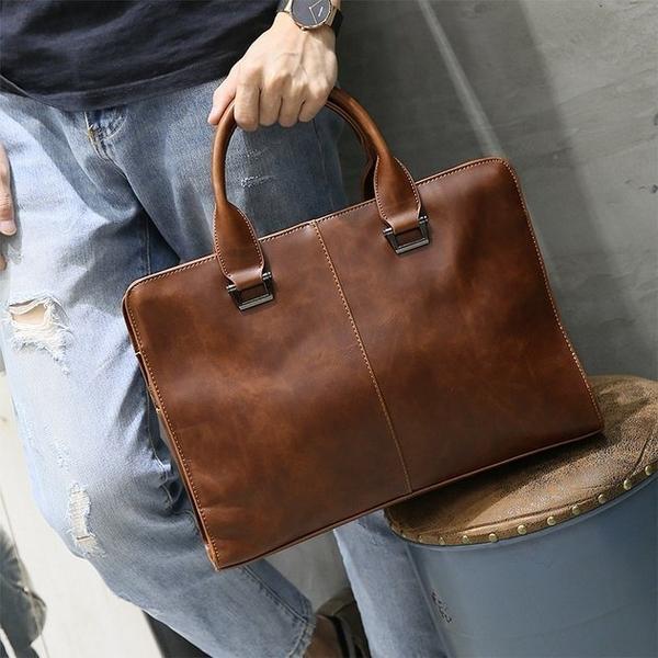 FINDSENSE 韓國男包 G6 男用休閒包耐用休閒手提包男士公文包公事包包2