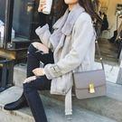 新款女裝新款韓版仿皮草皮毛一體秋冬季加厚加絨麂皮絨短款外套女夾克