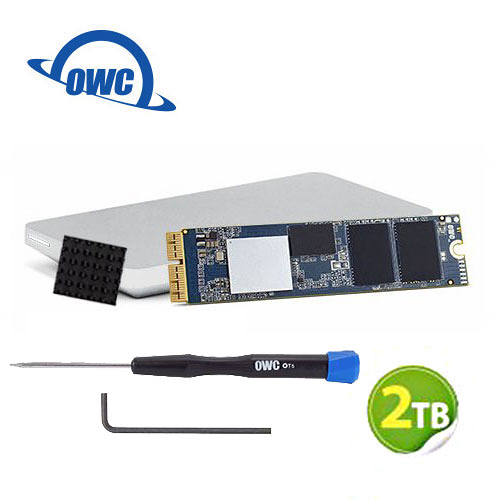 OWC Aura Pro X2 2.0TB NVMe 適用於Mac Pro SSD 完整升級套件 含工具、散熱片及Envoy Pro外接盒 (OWCS3DAPT4MP20K)