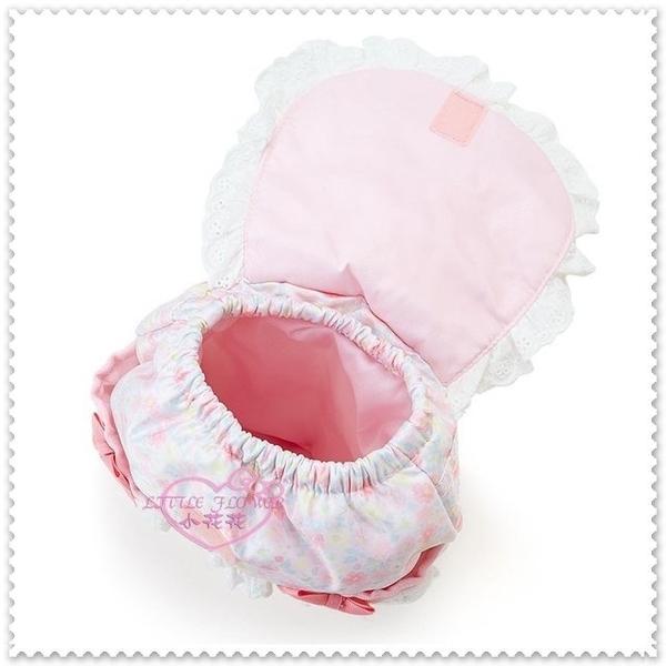 ♥小花花日本精品♥ Hello Kitty 粉色 小碎花 花園 刺繡 蕾絲 蝴蝶結 防水 迷你後背包 8