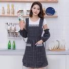圍裙 防水圍裙女棉布家用廚房做飯工作韓版時尚可愛餐廳背帶式夏季罩衣【八折搶購】