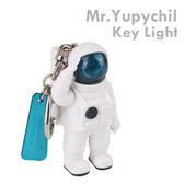 Hamee 五月天 Mr.Yupychil 太空人 LED鑰匙圈 手電筒 鑰匙圈 吊飾 (藍光) 93-421116