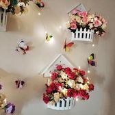 掛花盆裝飾品壁掛臥室房間牆上掛件客廳奶茶店咖啡廳店鋪牆面創意    igo可然精品鞋櫃