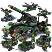 (超夯大放價)拼裝積木 積木軍事坦克7城市警察8工程車3-6周歲10男孩子9益智玩具XW