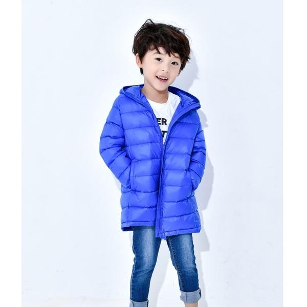 貝比幸福小舖【12299-6】專櫃級超輕量輕羽絨兒童長版外套(90%羽絨)