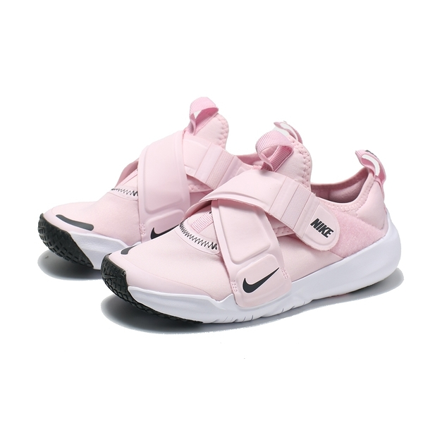 NIKE 童鞋 休閒鞋 FLEX ADVANCE PS 粉白 交叉 魔鬼氈 中童 (布魯克林) CZ0186-600