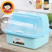 廚房大號塑料碗櫃帶蓋放碗箱瀝水碗架碗筷收納盒碗碟餐具籠整理架 igo 范思蓮恩