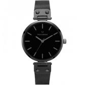 【台南 時代鐘錶 MOCKBERG】瑞典工藝 MO305 北歐極簡風格 LIO時尚腕錶 黑鋼 34mm