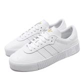 adidas 休閒鞋 Sambarose W 白 全白 女鞋 運動鞋 鬆糕鞋 【PUMP306】 FU9197