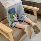 男童牛仔短褲外穿兒童夏裝中褲中大童夏季五分褲2021年新款潮童裝 一米陽光