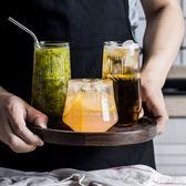 創意潮流杯子玻璃水杯玻璃杯茶杯家用套裝果汁杯牛奶杯水杯泡茶杯艾美時尚衣櫥