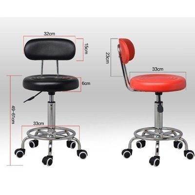 (免運特價)時尚皮格美髮設計師高腳椅 滾輪椅/剪髮椅子 靠背 椅背 美髮 圓椅*HAIR魔髮師*
