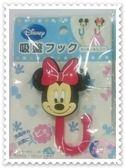 ♥小花花日本精品♥《Disney》迪士尼 米妮 吸盤式掛鉤 掛勾 居家用品 紅色 大臉 立體造型 33183404