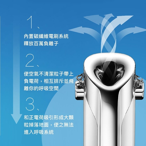 隨身型 負離子空氣清淨機 BY-7078 除臭 頸掛式 項鍊 PM2.5 穿戴式 飾品 迷你 病菌 粉塵