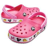 Crocs 米妮 Funlab 趣味學院 粉色 小中童鞋 NO.R2310