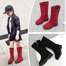 童靴 女童靴子2019新款冬季中筒靴中大童雪地靴女孩休閒靴公主靴兒童靴