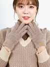 手套 手套冬天女士半指可愛加絨觸屏加厚保暖冬季學生防寒騎車毛絨騎行【快速出貨八折下殺】