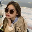 韓版ins凹造型街拍時尚茶色墨鏡女百搭款顯臉小偏光太陽眼鏡方形 魔法鞋櫃