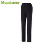 丹大戶外【Mountneer】山林休閒 女SOFT SHELL窄管保暖長褲 32S08-01 黑色