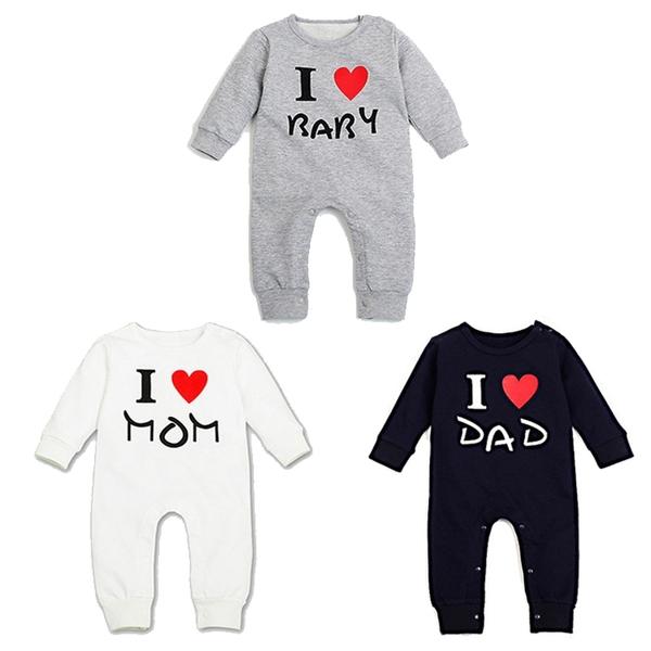 長袖連身衣 舒適毛圈 嬰兒連身裝 我愛媽咪 我愛寶貝 長袖寶寶兔裝 LU25417 棉質嬰兒服