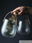 半房北歐帶提手玻璃花瓶英文字母水培插花瓶創意水果零食收納罐子  夏季新品 YTL