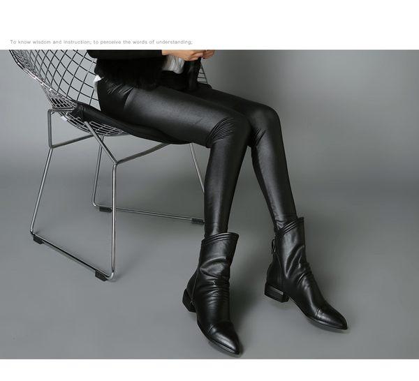 {丁果時尚}大尺碼女鞋35-42►2018秋時尚帥氣皺褶低跟短靴*全新現貨供應