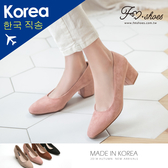 靴.小方頭高跟鞋(黑、粉)-FM時尚美鞋-韓國精選.MICRO