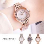 韓國WEIYA極光之戀流鑽雲貝金屬鍊帶手錶【WWY1578】璀璨之星☆