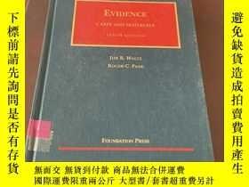 二手書博民逛書店Evidence罕見cases and materials (t