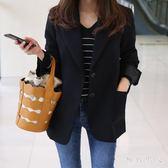 西裝外套 小西裝女新款秋女士西服長袖韓版修身顯瘦短款外套 LN4720 【極致男人】