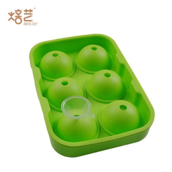 矽膠冰球6孔批發 矽膠冰球模具 圓形冰球 矽膠制冰器 (不挑色) GJBG (購潮8)