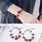 【Q30A89】魔衣子-時尚可愛小櫻桃古銅手鍊